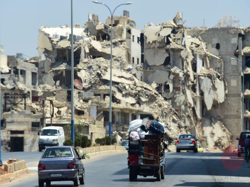 Siria Alepo calle destruida para web