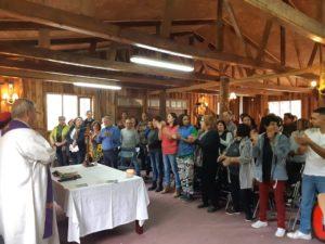 Fazenda misa inauguracion casa de mujeres
