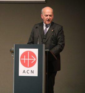 Farewell of outgoing Executive President Johannes Freiherr Heereman and inauguration of Thomas Heine-Geldern as new executive president of ACN  on 17.04.2018