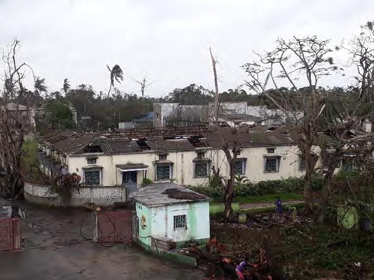 Ciudad de Beira, Mozambique, destruida por huracán