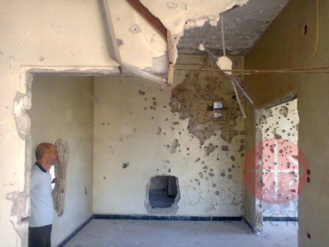 Siria casa de los Ghattas destruida