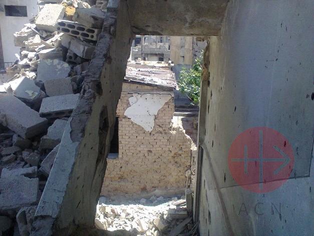 Siria casa de los Ghattas destruida2