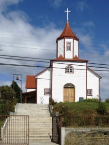 Chiloe incendio en iglkesia san francisco antes