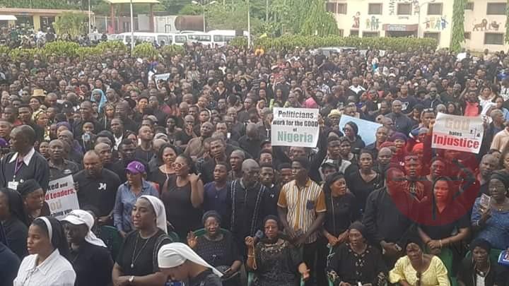 Nigeria vista de la marcha del 1 de marzo