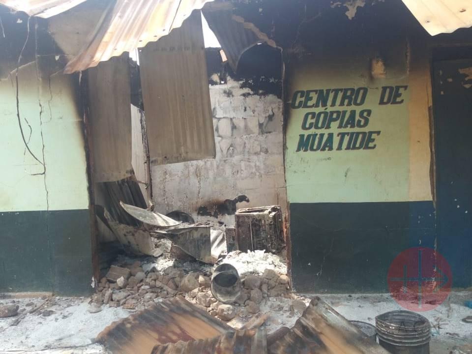 Mozambique ataque a centro de copiado