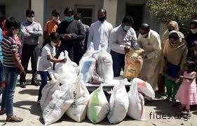 Pakistan distribucion de alimentos foto de fides