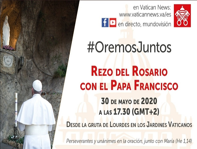invitacion del papa al rosario del 30 de mayo para web