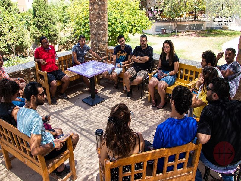Egipto grupo en terraza web
