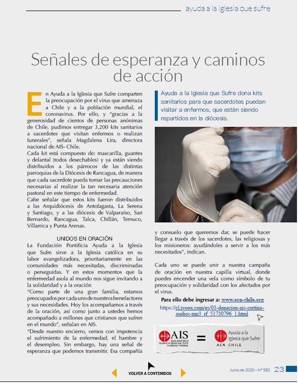pagina del reportaje en Rumbos