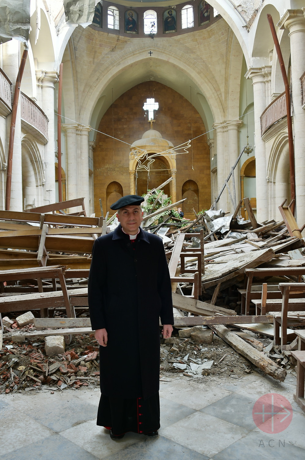Siria Alepo catedral de San Elías destruida Maronite bishop Joseph Tobji