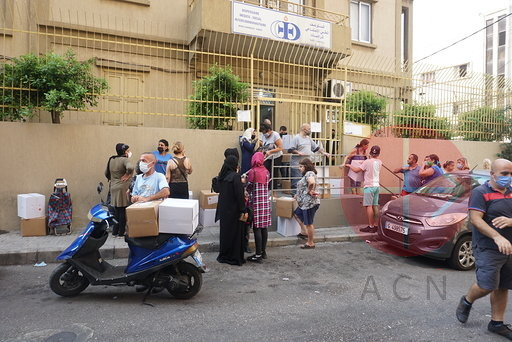 Líbano distribución de cajas