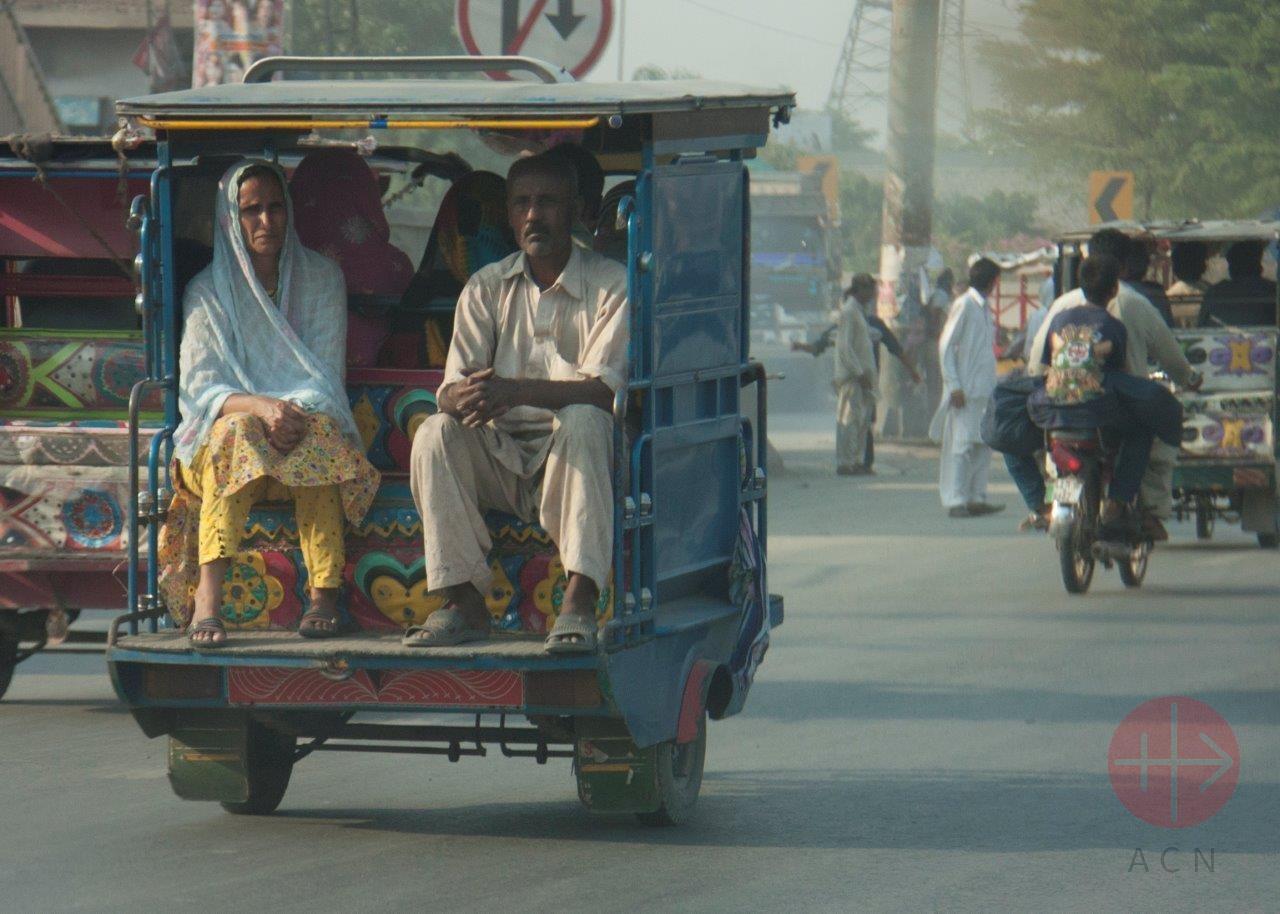 Pakistán calle de Lahore