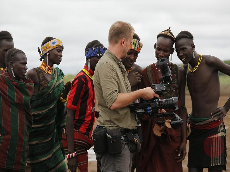 Etiopía grupo grabando el documental web