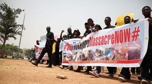 Nigeria protesta pacífica Stop the Kajuru Massacre now