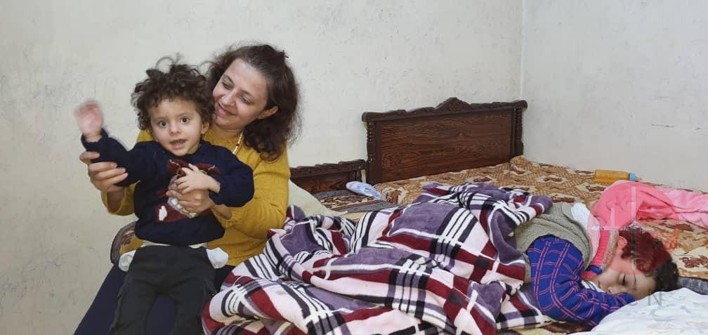 Siria Laura y sus hijos