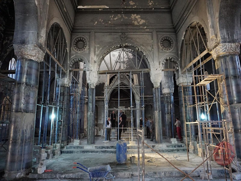 Irak Karakosh iglesia siro católica de la Inmaculada Concepccón destruida durante la violencia web
