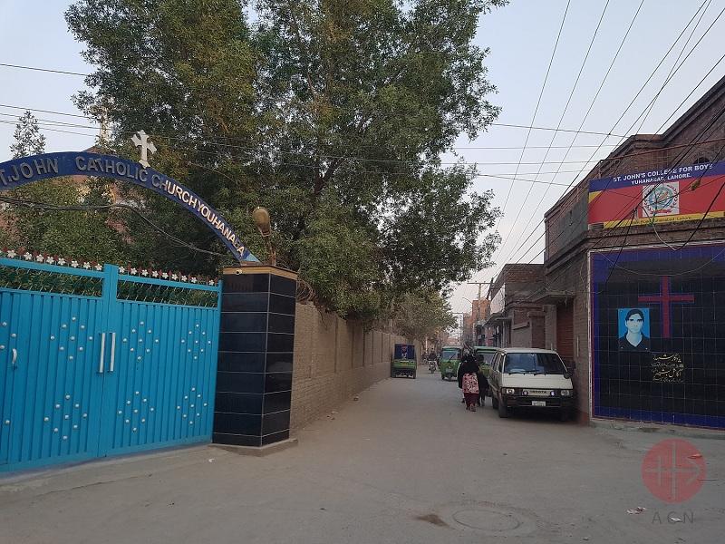 Pakistán puerta iglesia donde murió joven en atentado terrorista web