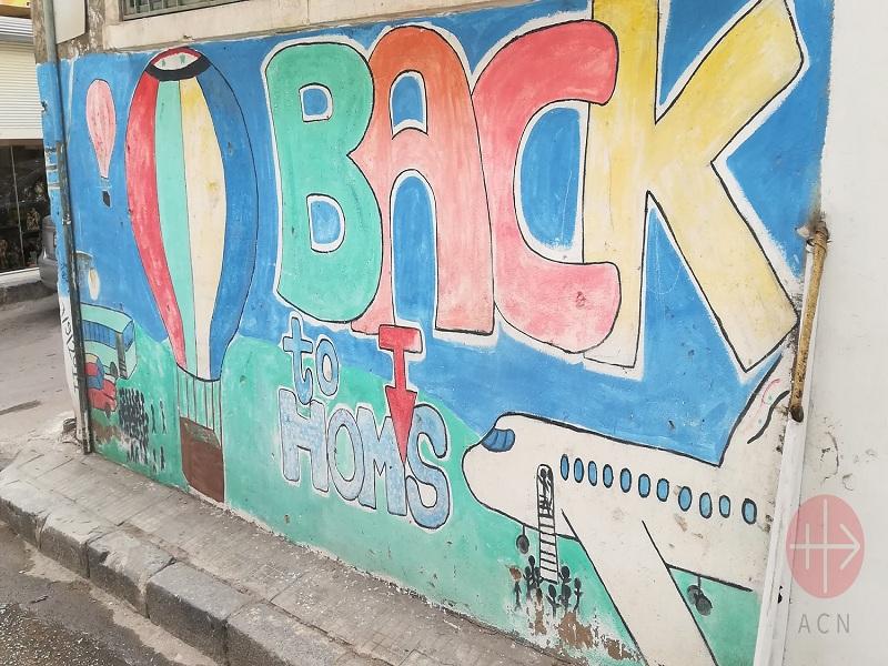 Siria calle pintada por niños web