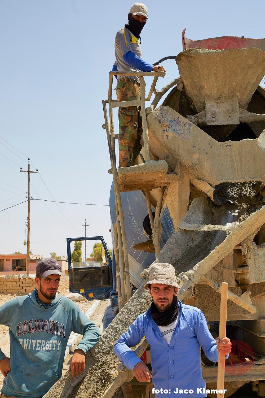 Irak camión de cemento