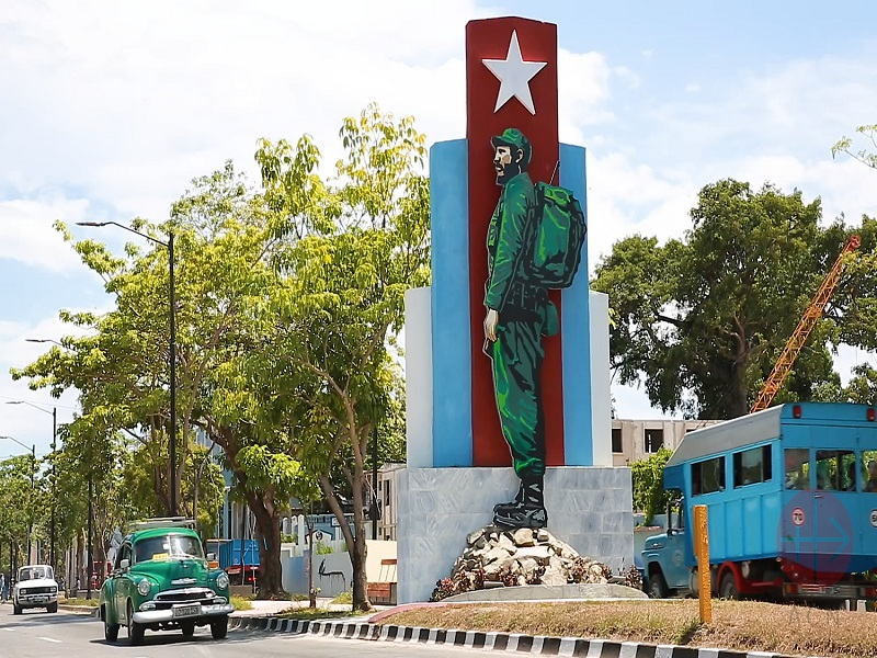 Cuba imagen del che en Cienfuegos web