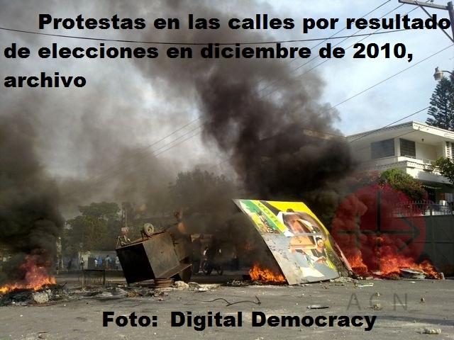 Haiti protestas elecciones de diciembre de 2010 con credito