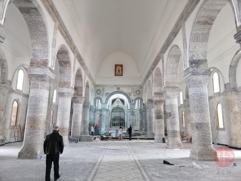 Irak Karakosh restauración iglesia de Al Tahira web
