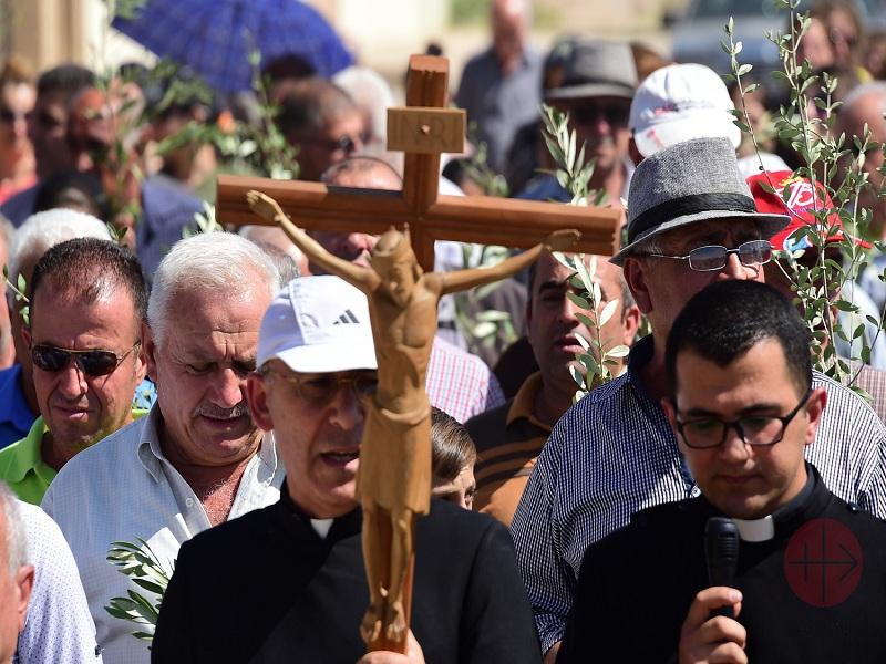 Irak Qaraqosh procesión con Cristo que vuelve a su ciudad 2017 web