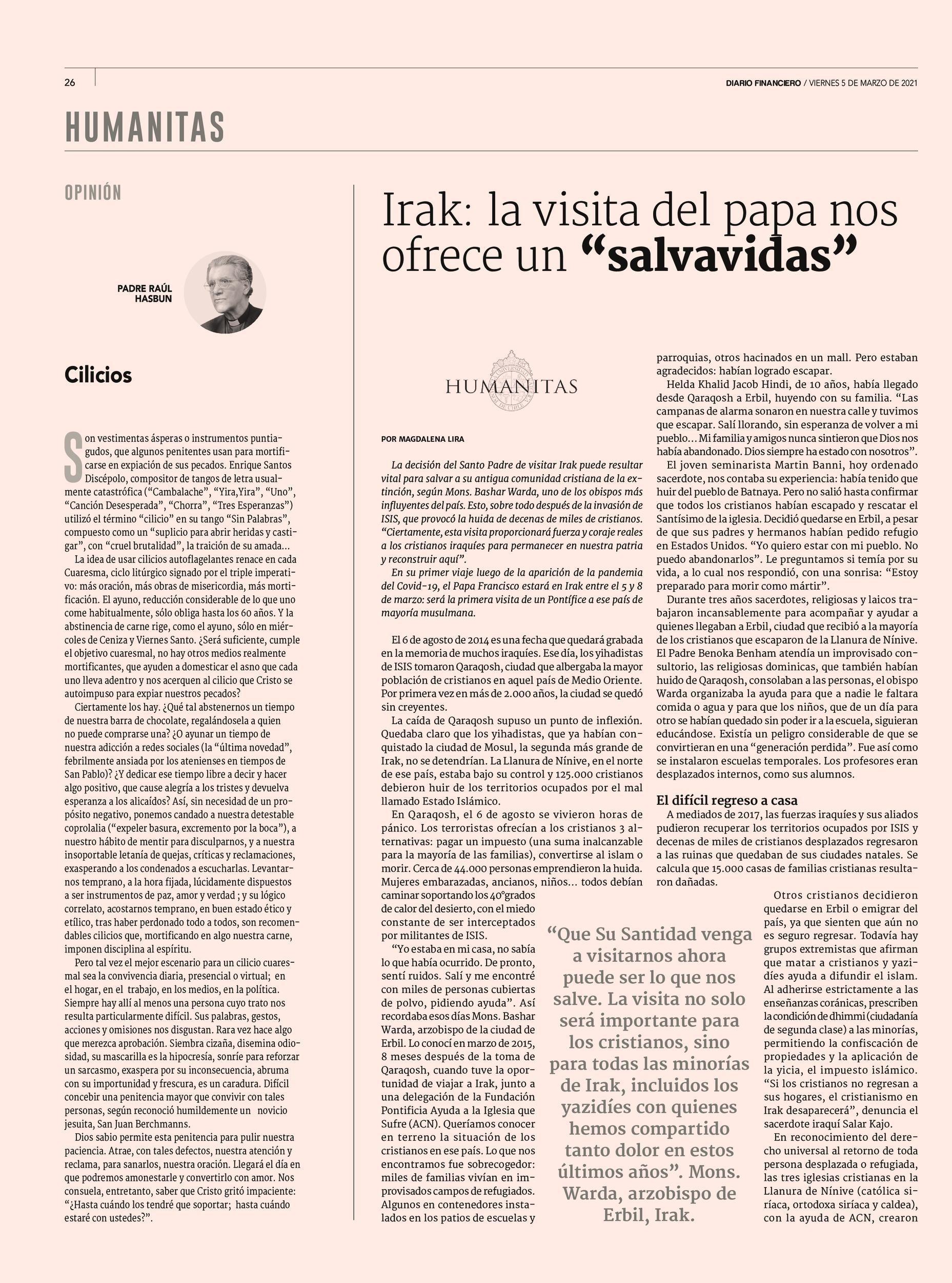 Humanitas en Diario Financiero 05.03.21 p.26