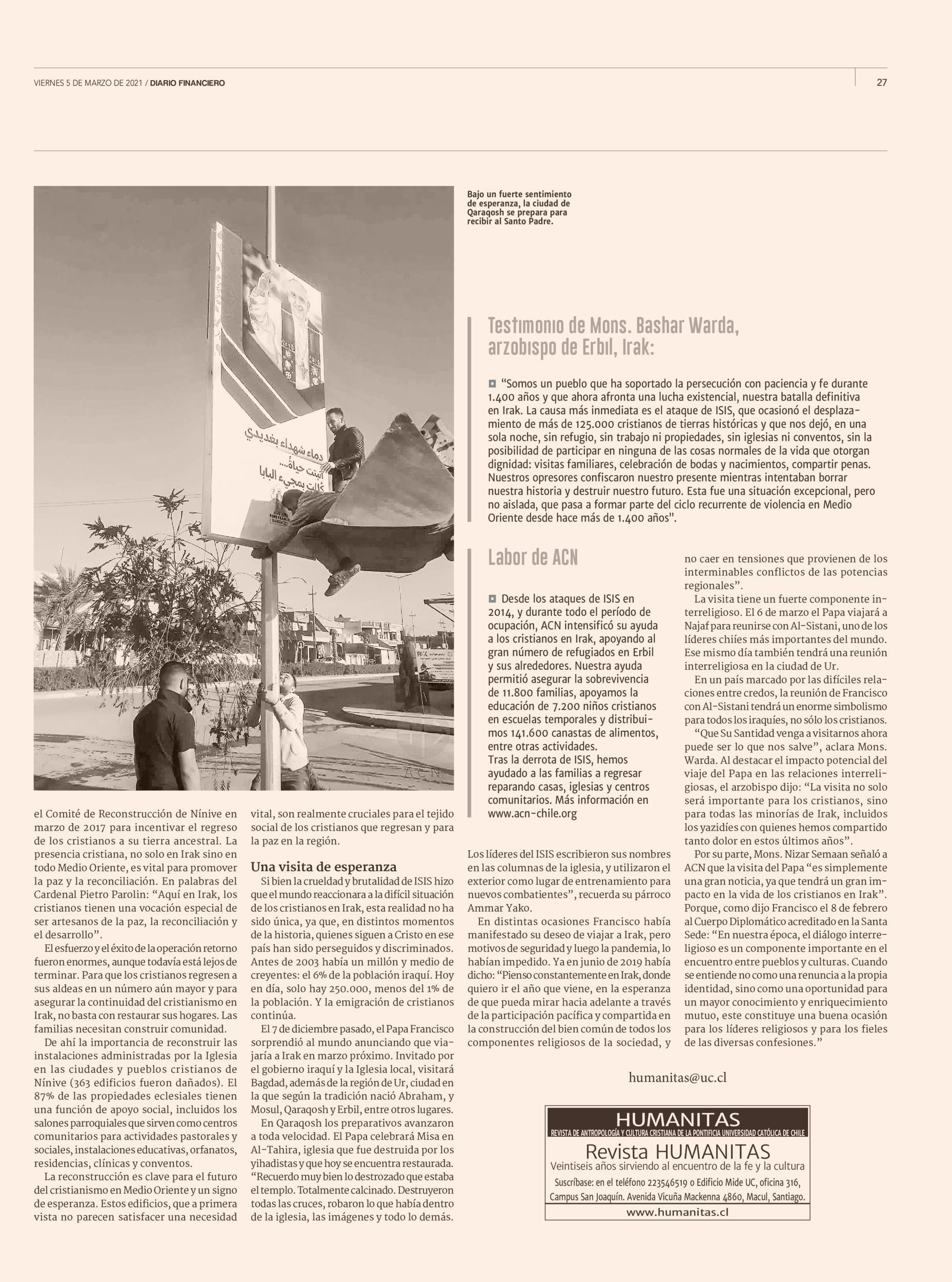 Humanitas en Diario Financiero 05.03.21 p.27