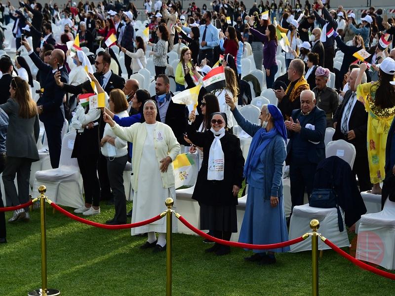 Irak viaje papal alegría de recibir al papa en estadio web