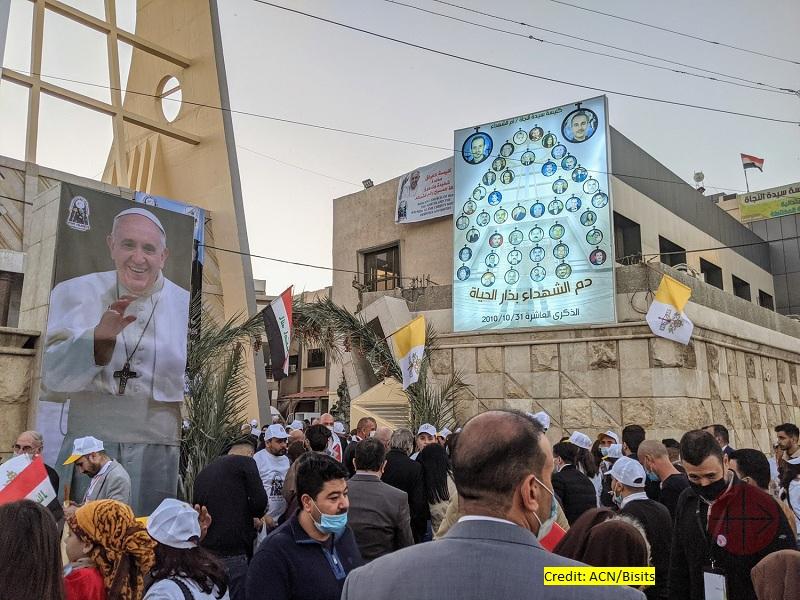 Irak viaje papal ambiente fuer a de la catedral de Bagdad web con creditos