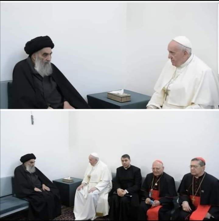 Irak viaje papal sistani y papa