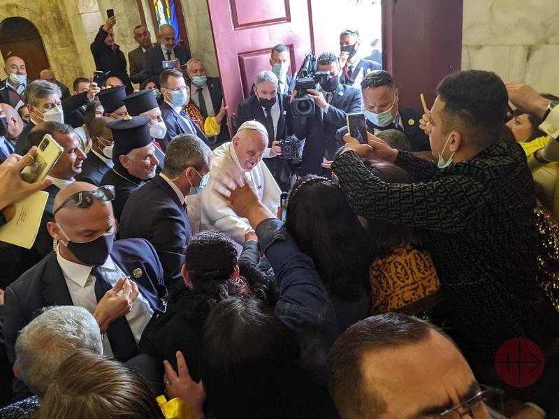 Irak viaje papal fieles quieren saludarlo web