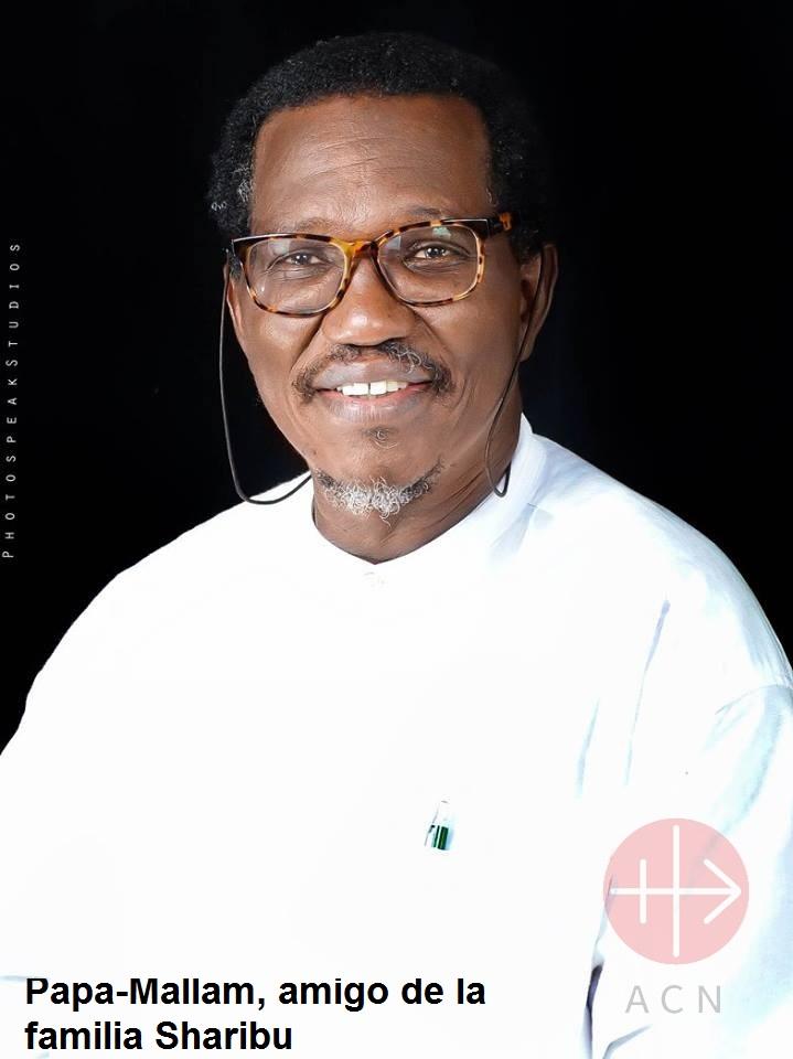 Nigeria pastor Fr. Gideon Para-Mallam que ayuda y es vocero de la familia Sharibu con descripción