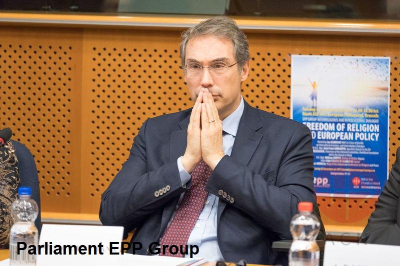 Mark von Riedemann at the European Parliament Credit European Parliament EPP Group con crédito