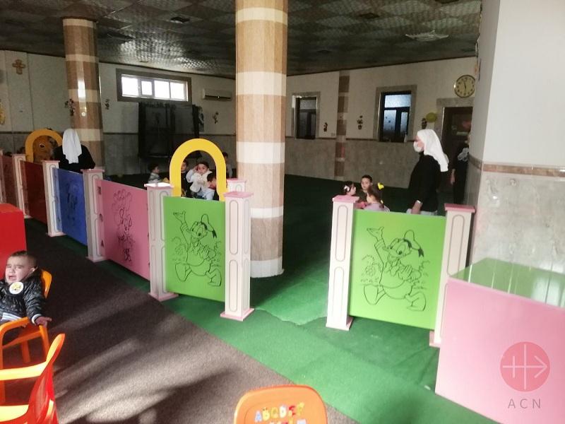 Irak jardin infantil restaurado web