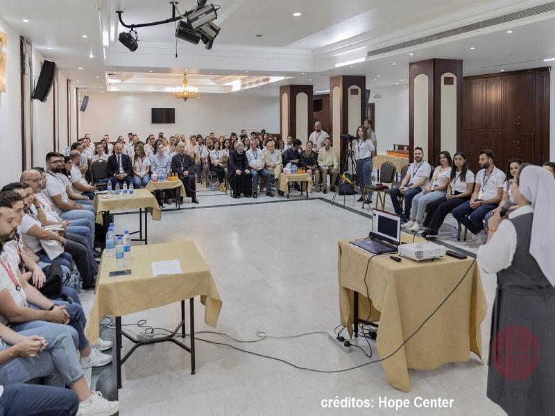 Siria Hope Center inauguración credito y web