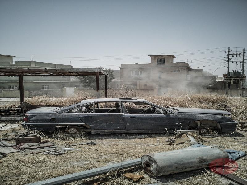Irak Karamles auto quemado