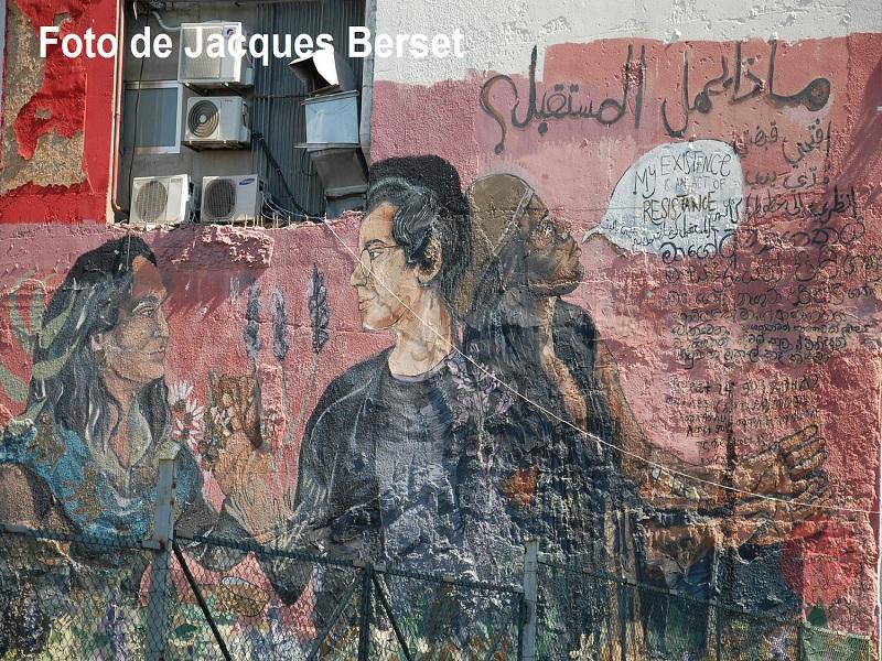 Líbano mural de la calle foto de Jacques Berset web