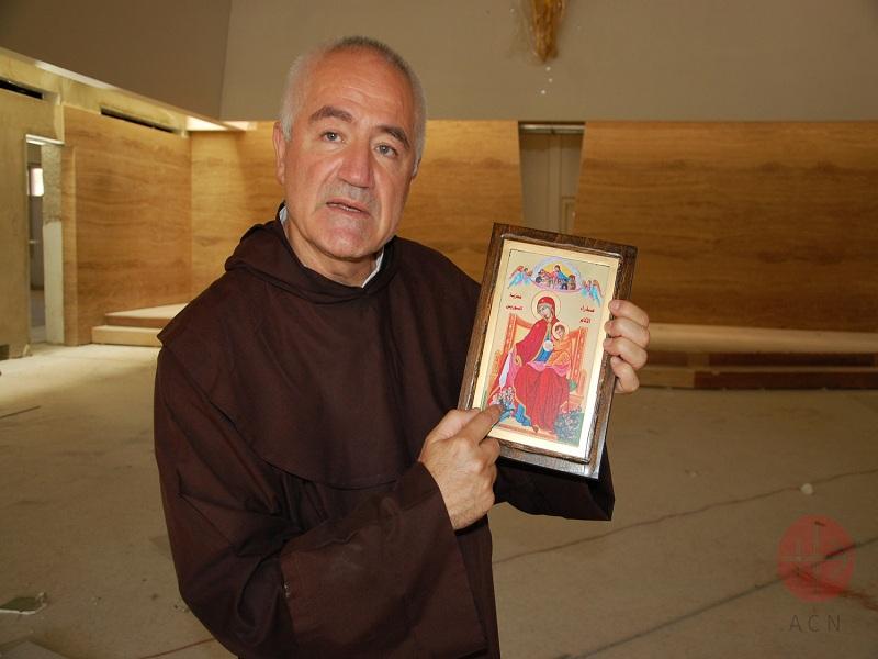 Líbano padre Abdo muestra icono web