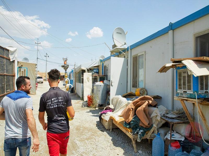 Irak Ankawa campo de refugiados web